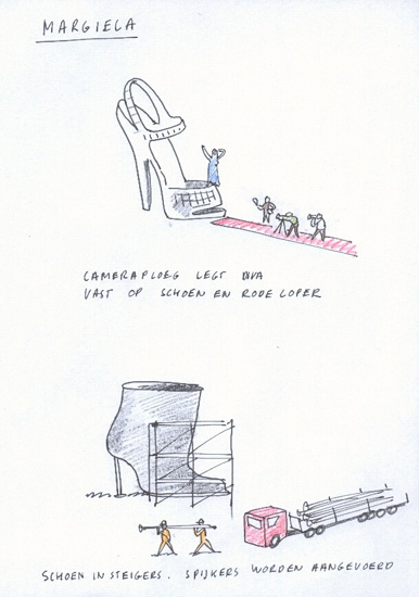 Mode Biënnale – Margiela schetsen